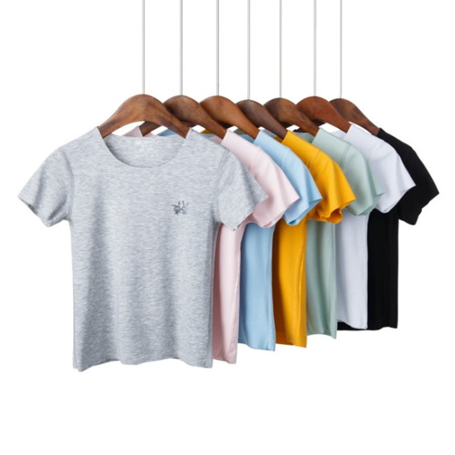 全6色キッズシームレス半袖Tシャツ キッズ ユニセックス  伸縮 速乾性 子供服 ソリッドカラー 3