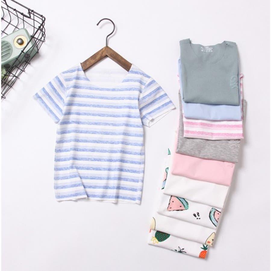 全6色キッズシームレス半袖Tシャツ キッズ ユニセックス  伸縮 速乾性 子供服 ソリッドカラー 4