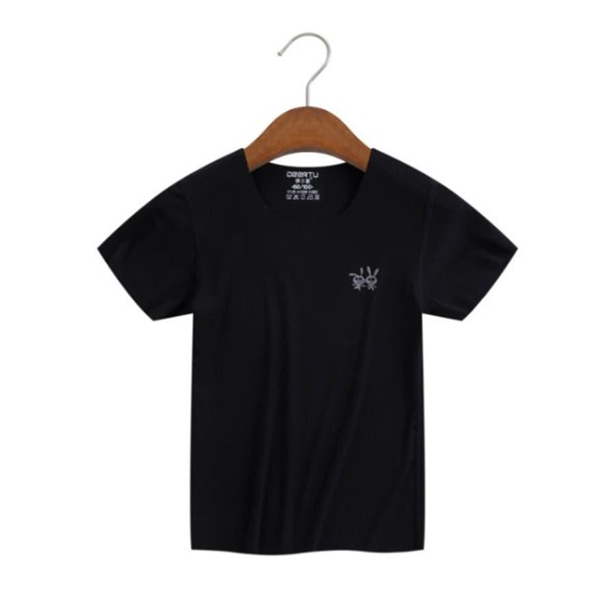 全6色キッズシームレス半袖Tシャツ キッズ ユニセックス  伸縮 速乾性 子供服 ソリッドカラー 5