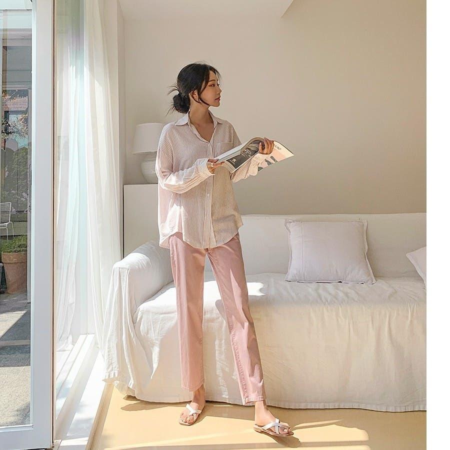 [ENVYLOOK]ワンポケットストライプシャツ★韓国ファッション/カジュアル/デイリールック/フェミニンルック/オルチャンファッション/プチプラ/ストリート 5