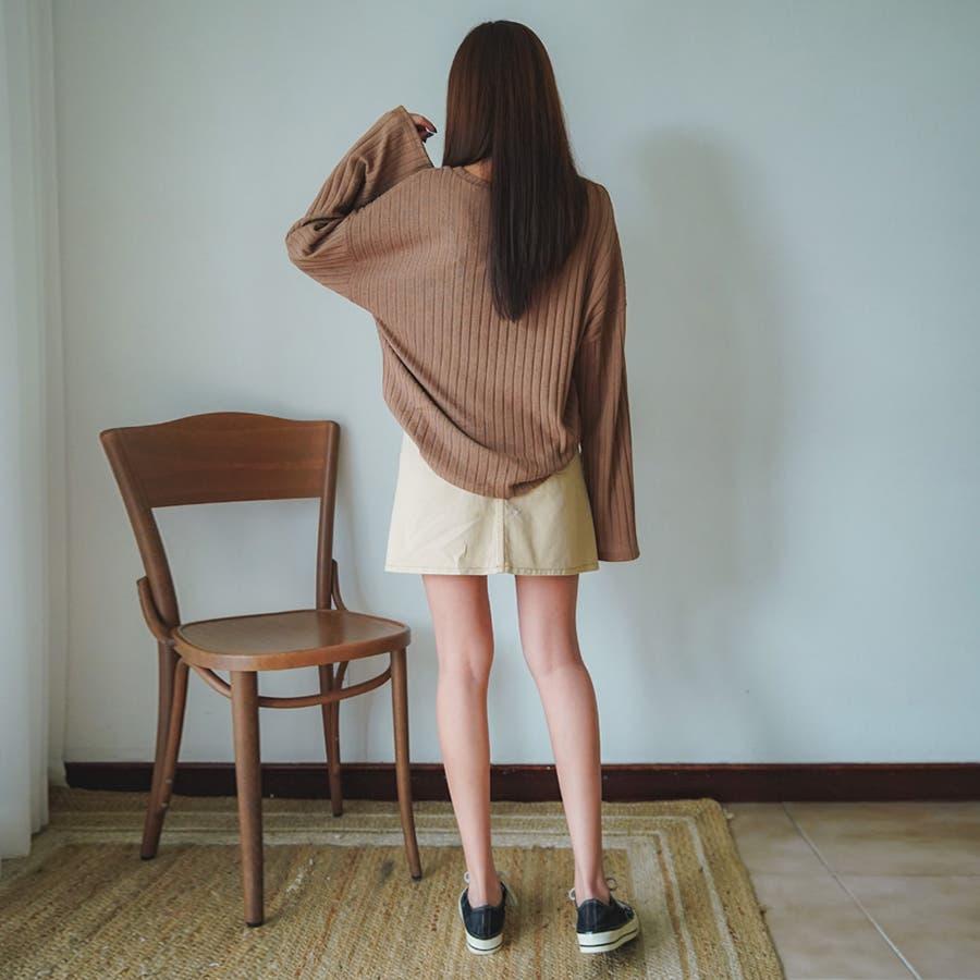 ボールドリブニット★韓国ファッション/カジュアル/デイリールック/フェミニンルック/オルチャンファッション 2