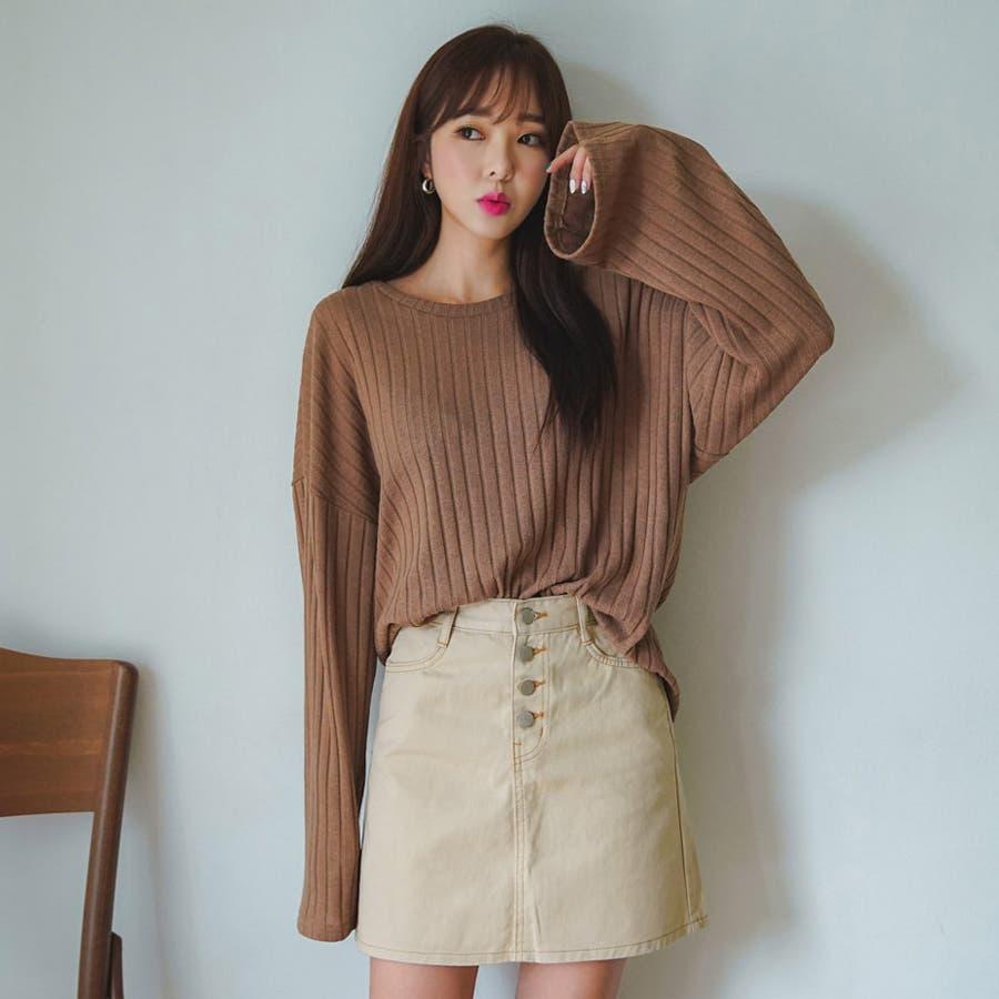 ボールドリブニット★韓国ファッション/カジュアル/デイリールック/フェミニンルック/オルチャンファッション 1