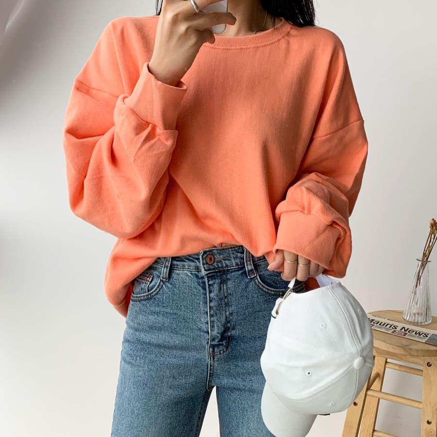 シンプル単色コットンスウェットプルオーバー★韓国ファッション/カジュアル/デイリールック/フェミニンルック/オルチャンファッション 99
