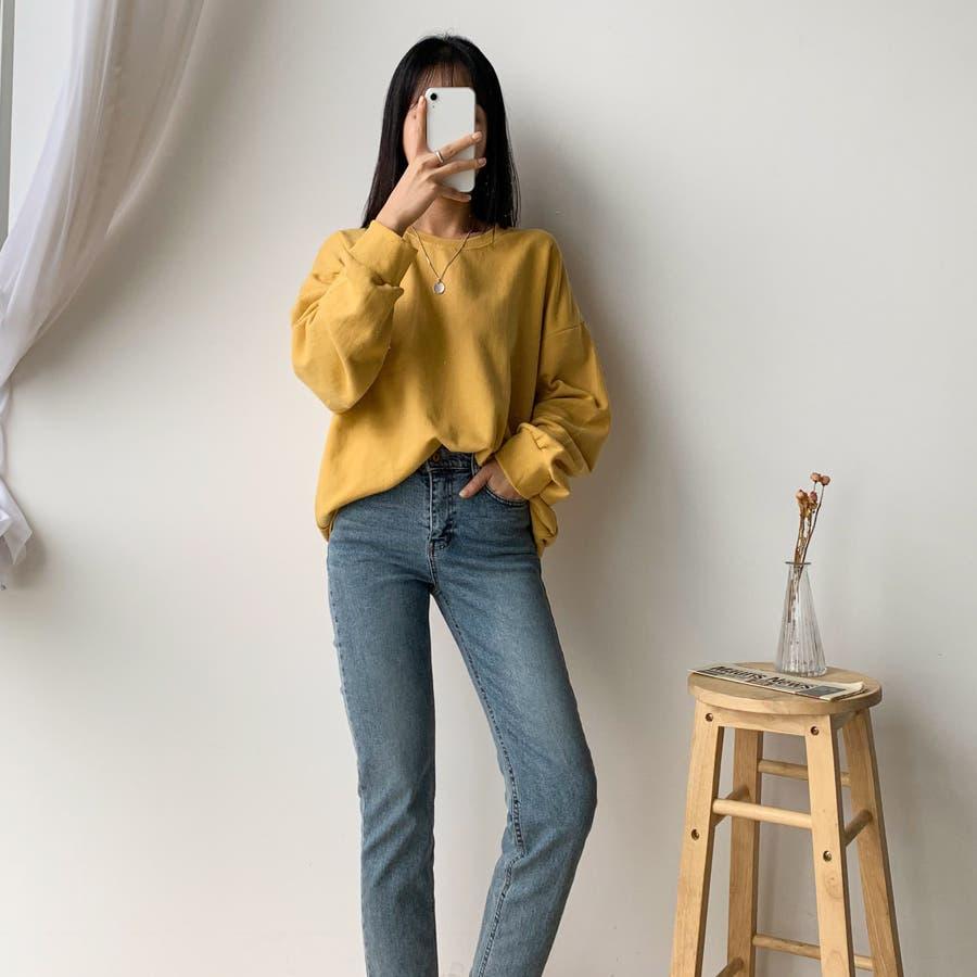 シンプル単色コットンスウェットプルオーバー★韓国ファッション/カジュアル/デイリールック/フェミニンルック/オルチャンファッション 4
