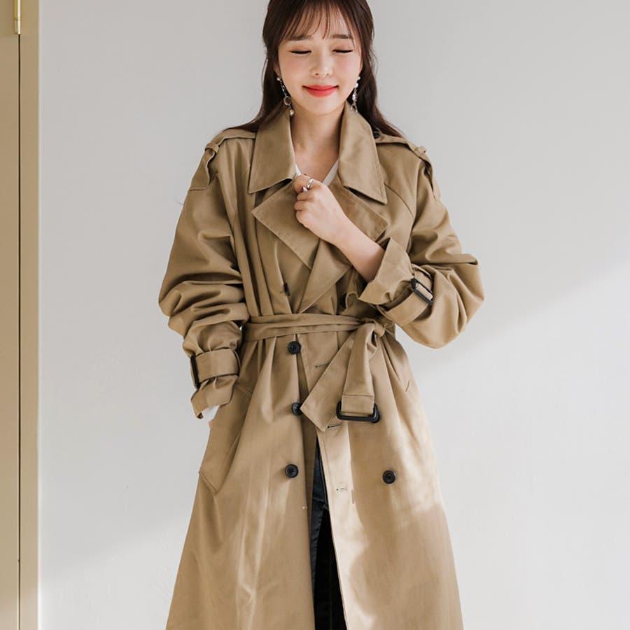 ラグランスリーブトレンチコート★韓国ファッション/カジュアル/デイリールック/フェミニンルック/オルチャンファッション 41
