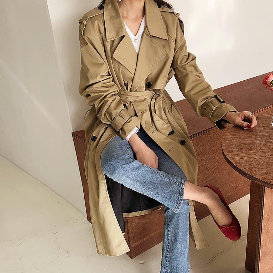 ラグランスリーブトレンチコート★韓国ファッション/カジュアル/デイリールック/フェミニンルック/オルチャンファッション 2