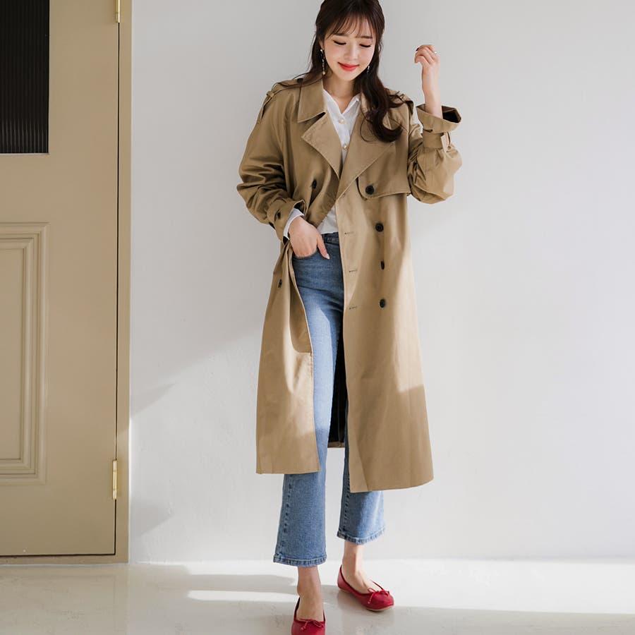 ラグランスリーブトレンチコート★韓国ファッション/カジュアル/デイリールック/フェミニンルック/オルチャンファッション 3