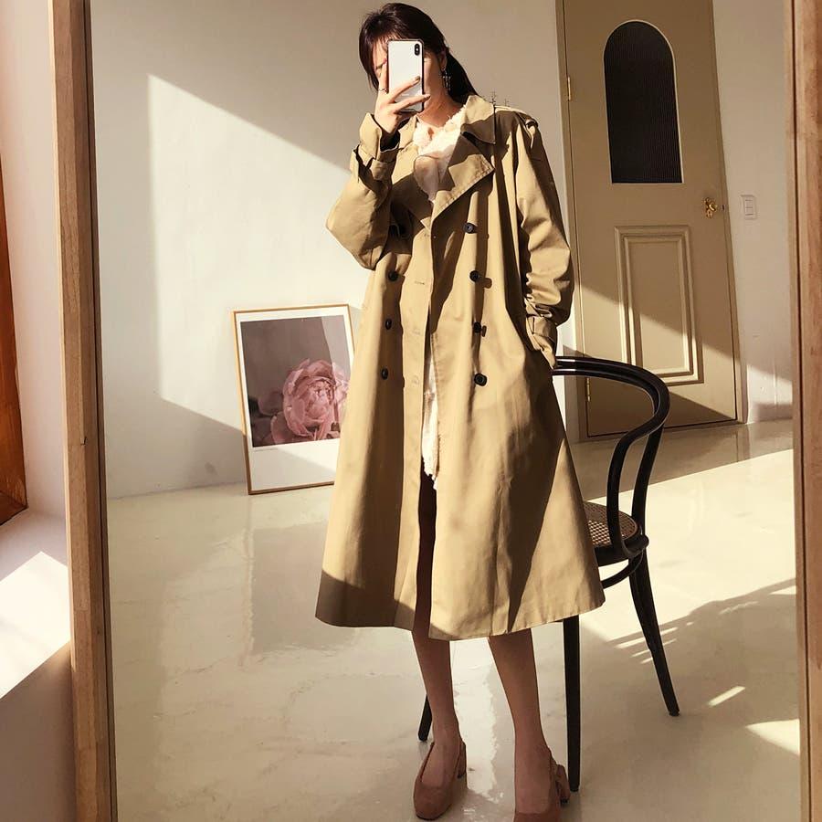 ラグランスリーブトレンチコート★韓国ファッション/カジュアル/デイリールック/フェミニンルック/オルチャンファッション 8