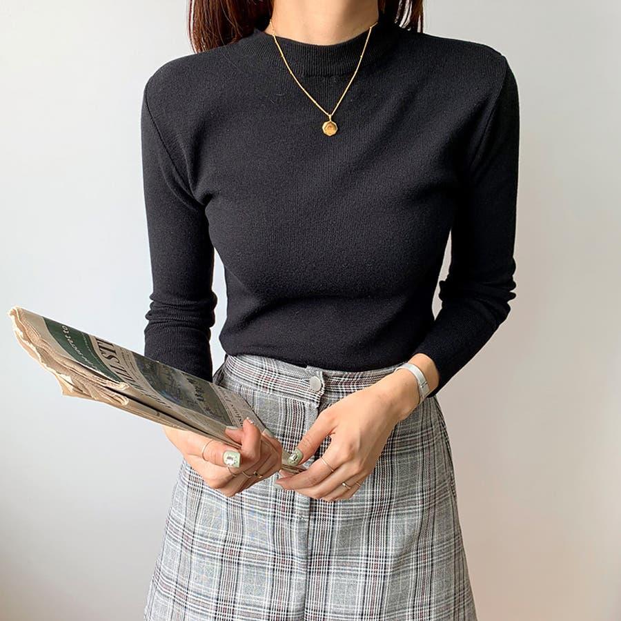 デイリーソフトベーシックニット★韓国ファッション/カジュアル/デイリールック/フェミニンルック/オルチャンファッション 21