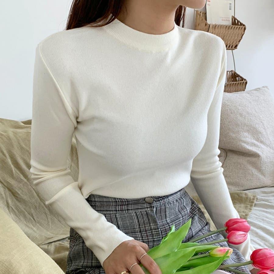 デイリーソフトベーシックニット★韓国ファッション/カジュアル/デイリールック/フェミニンルック/オルチャンファッション 1