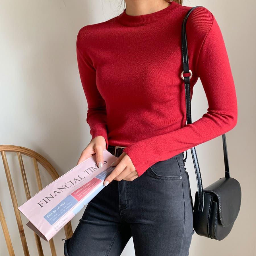 デイリーソフトベーシックニット★韓国ファッション/カジュアル/デイリールック/フェミニンルック/オルチャンファッション 3