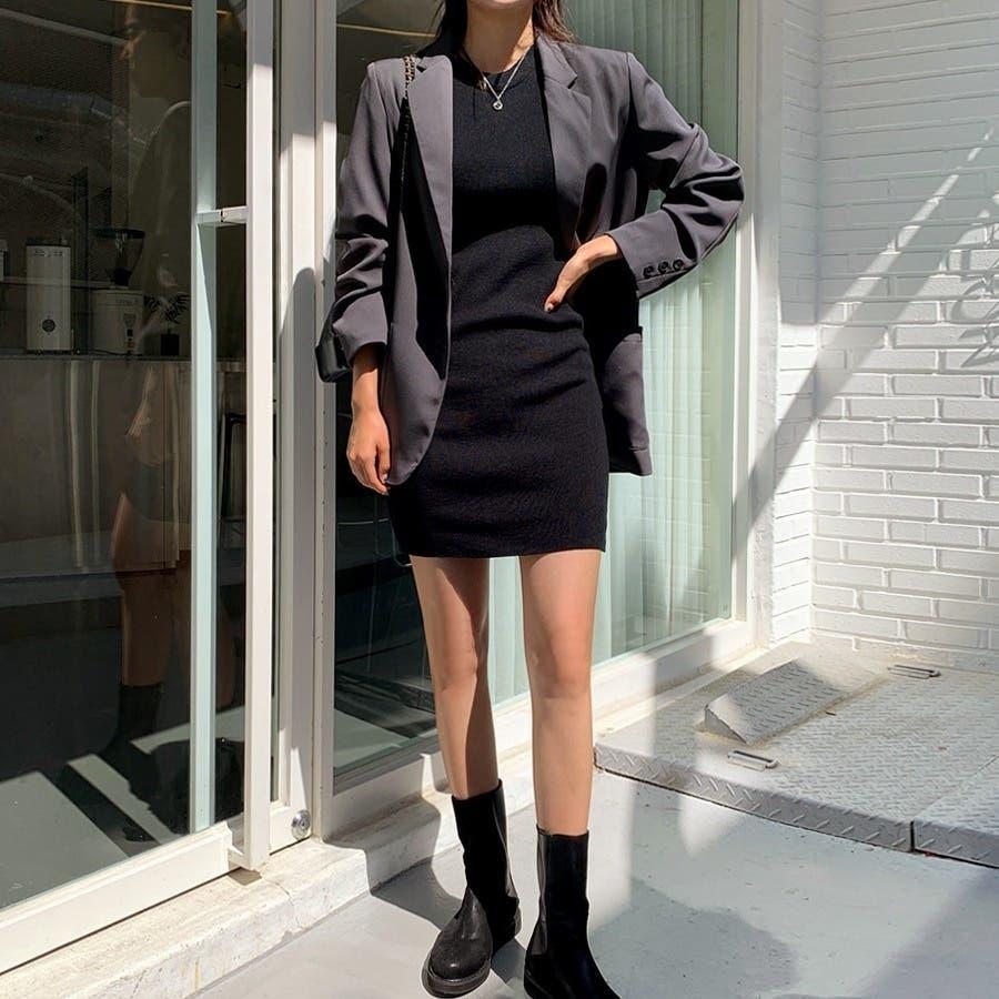 [ENVYLOOK]肩パッド付きツーボタンシングルテーラードジャケット★韓国ファッション/カジュアル/デイリールック/フェミニンルック/オルチャンファッション/プチプラ/ストリート 5