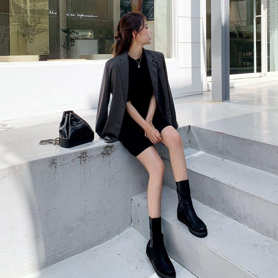 [ENVYLOOK]肩パッド付きツーボタンシングルテーラードジャケット★韓国ファッション/カジュアル/デイリールック/フェミニンルック/オルチャンファッション/プチプラ/ストリート 7