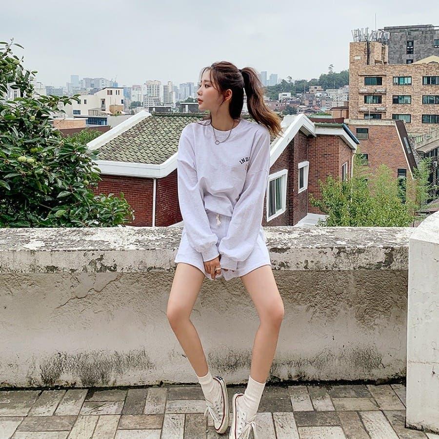[ENVYLOOK]インディアナロゴスウェットプルオーバー+ショートパンツ★韓国ファッション/カジュアル/デイリールック/フェミニンルック/オルチャンファッション/プチプラ/ストリート 7