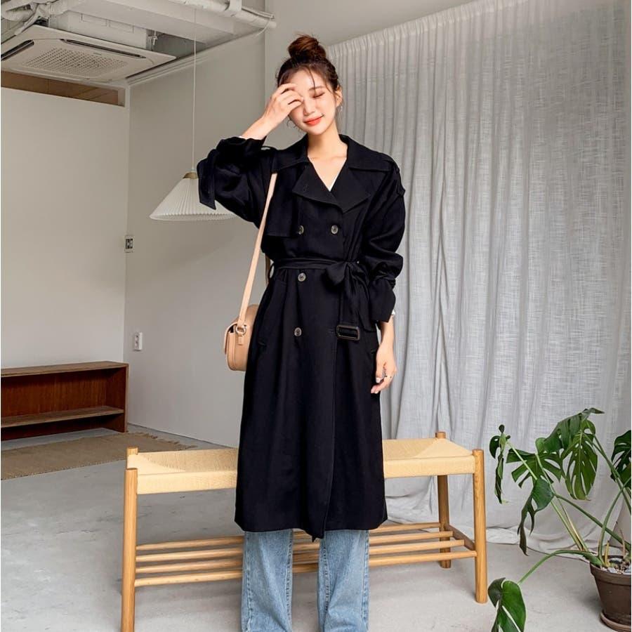 リボンダブルトレンチコート★韓国ファッション/カジュアル/デイリールック/フェミニンルック/オルチャンファッション 7