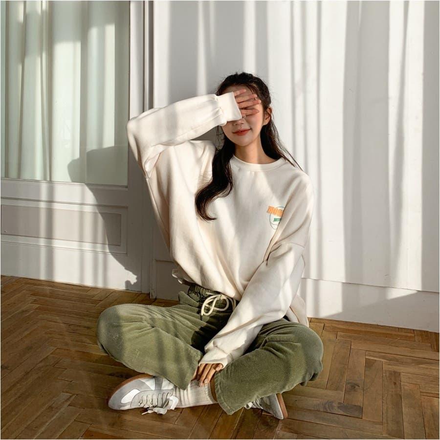 ラクラクウエスト紐コーデュロイパンツ★韓国ファッション/カジュアル/デイリールック/フェミニンルック/オルチャンファッション 5