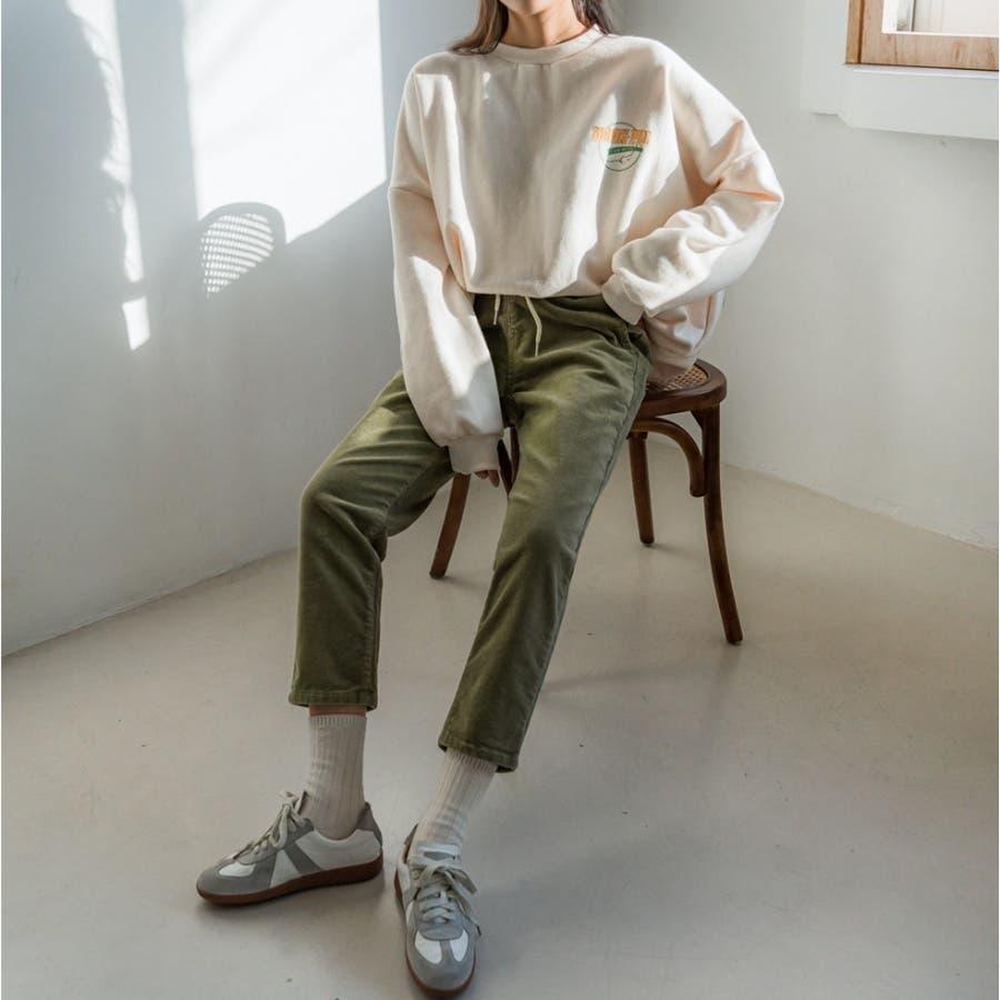ラクラクウエスト紐コーデュロイパンツ★韓国ファッション/カジュアル/デイリールック/フェミニンルック/オルチャンファッション 6