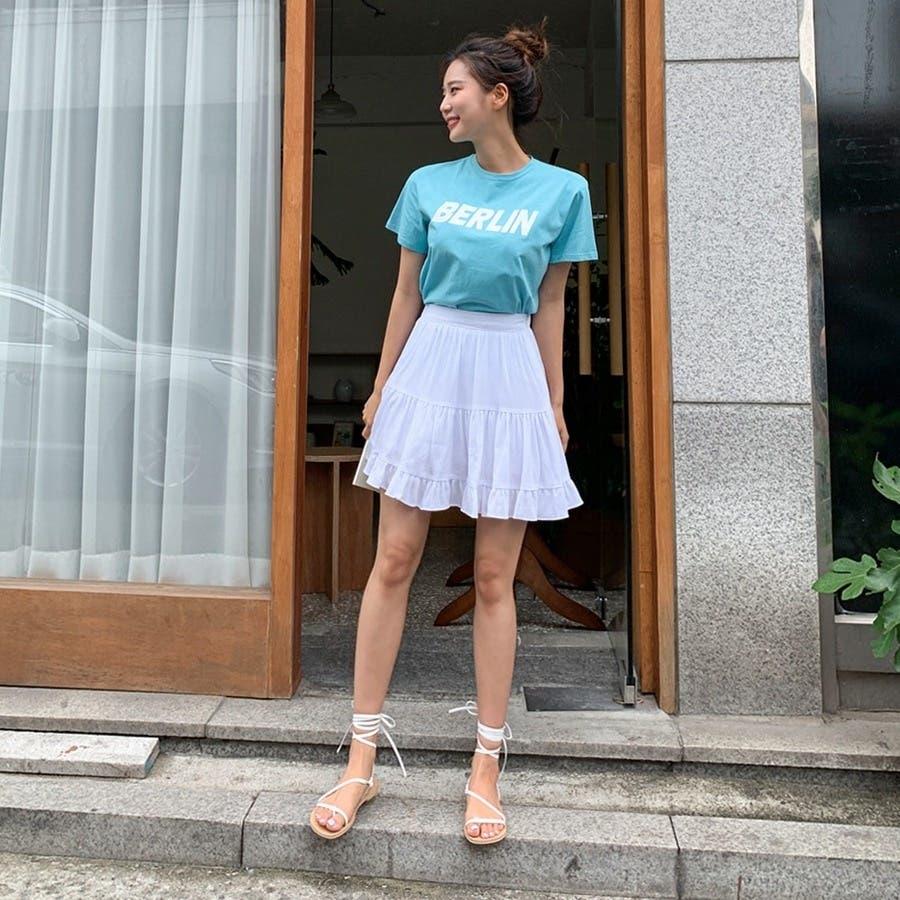 [ENVYLOOK]フリル裾ティアードミニスカート★韓国ファッション/カジュアル/デイリールック/フェミニンルック/オルチャンファッション/プチプラ/ストリート 3