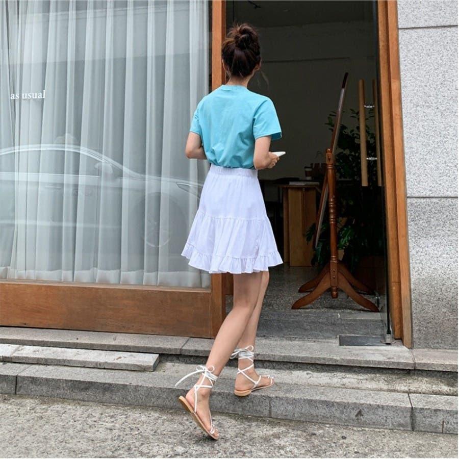 [ENVYLOOK]フリル裾ティアードミニスカート★韓国ファッション/カジュアル/デイリールック/フェミニンルック/オルチャンファッション/プチプラ/ストリート 4