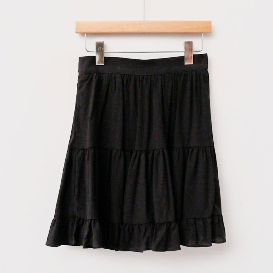 [ENVYLOOK]フリル裾ティアードミニスカート★韓国ファッション/カジュアル/デイリールック/フェミニンルック/オルチャンファッション/プチプラ/ストリート 21