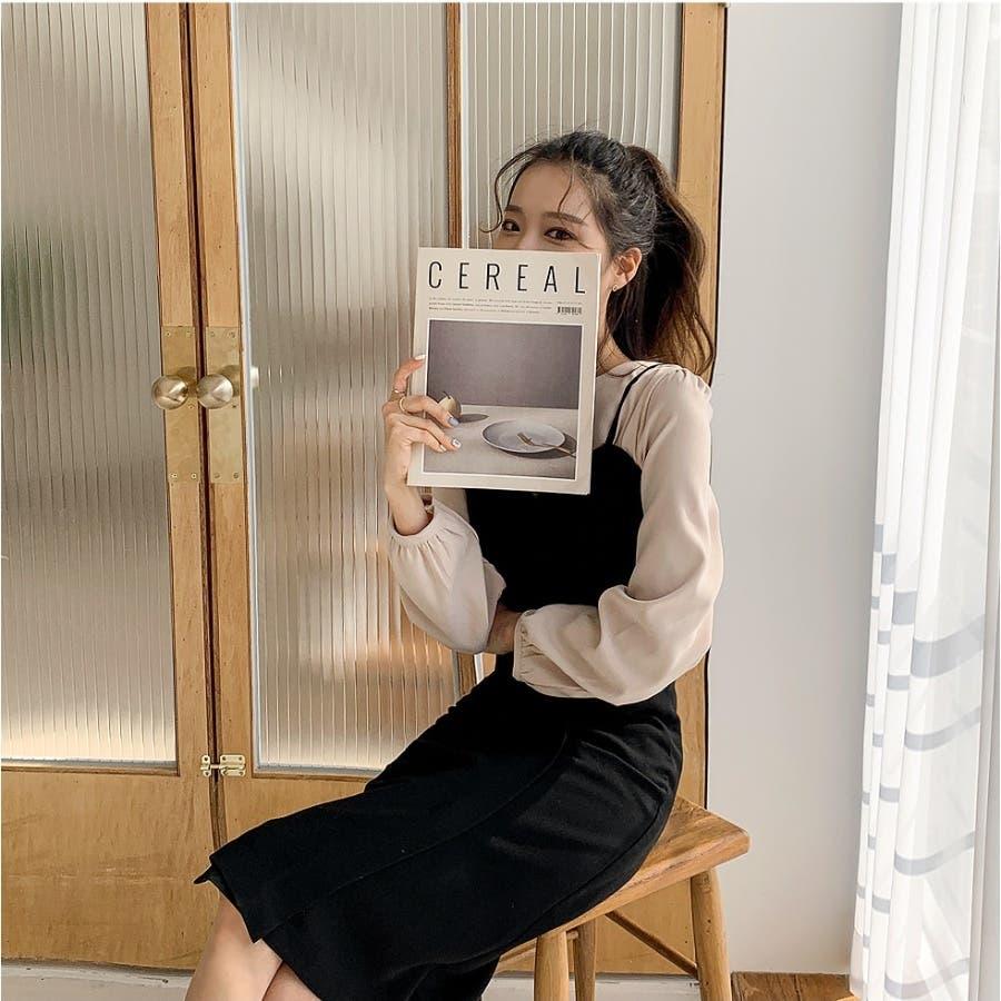 曲線ラインビスチェキャミワンピース★韓国ファッション/カジュアル/デイリールック/フェミニンルック/オルチャンファッション 8