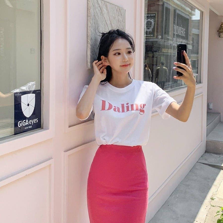 [ENVYLOOK]バストビッグロゴラウンド半袖Tシャツ★韓国ファッション/カジュアル/デイリールック/フェミニンルック/オルチャンファッション/プチプラ/ストリート 5