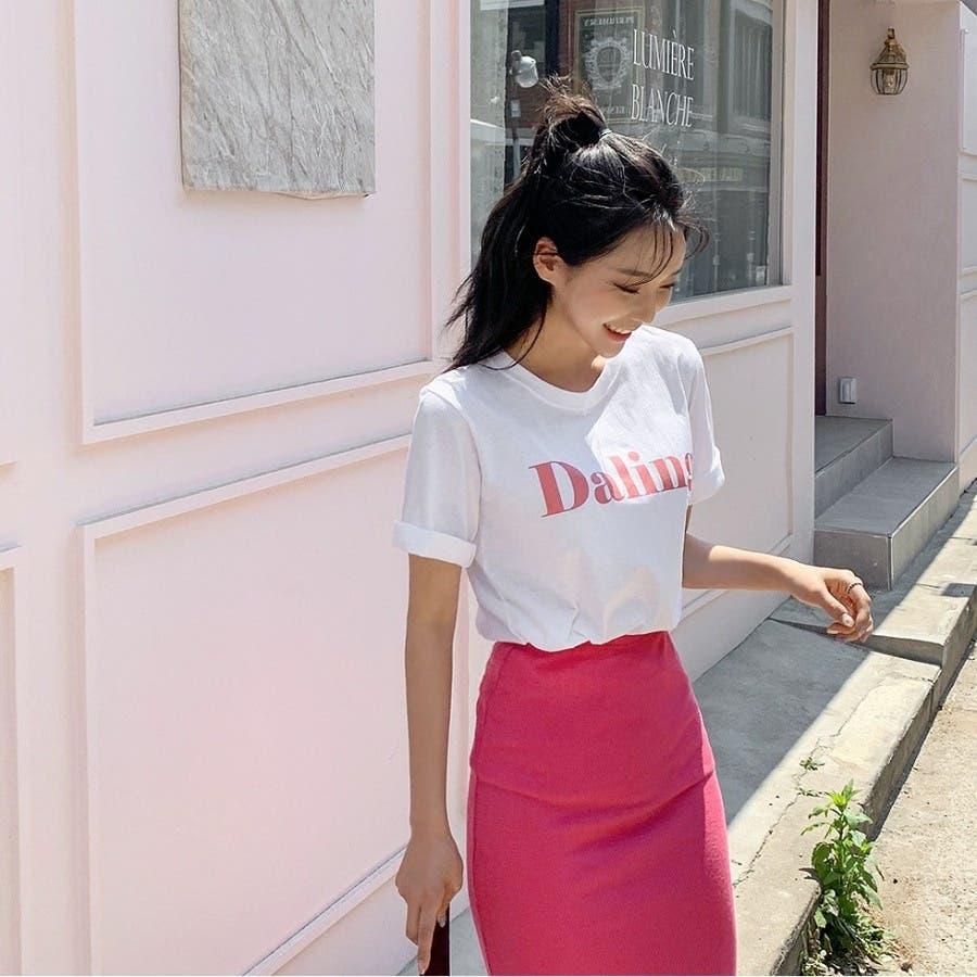 [ENVYLOOK]バストビッグロゴラウンド半袖Tシャツ★韓国ファッション/カジュアル/デイリールック/フェミニンルック/オルチャンファッション/プチプラ/ストリート 6