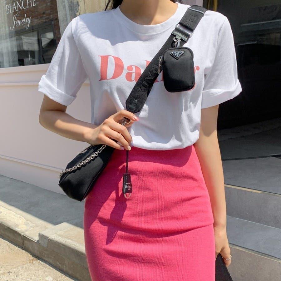[ENVYLOOK]バストビッグロゴラウンド半袖Tシャツ★韓国ファッション/カジュアル/デイリールック/フェミニンルック/オルチャンファッション/プチプラ/ストリート 8