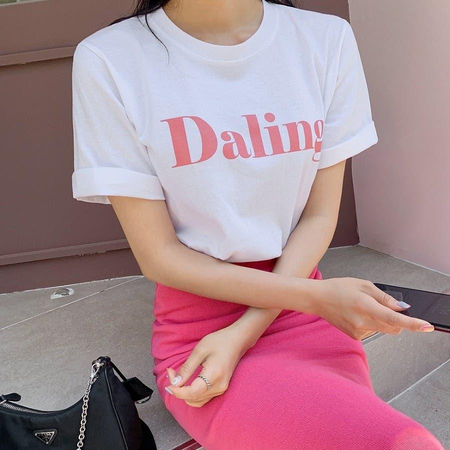 [ENVYLOOK]バストビッグロゴラウンド半袖Tシャツ★韓国ファッション/カジュアル/デイリールック/フェミニンルック/オルチャンファッション/プチプラ/ストリート 18