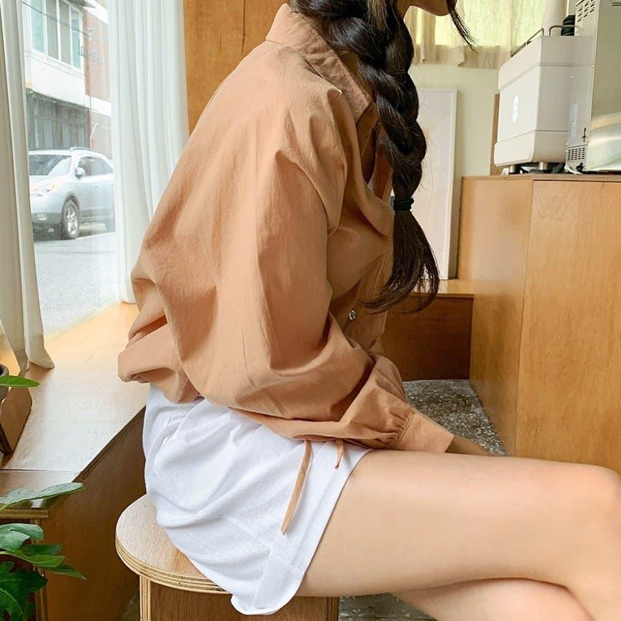 [ENVYLOOK]裾ストリングラグランバルーン袖シャツ★韓国ファッション/カジュアル/デイリールック/フェミニンルック/オルチャンファッション/プチプラ/ストリート 4