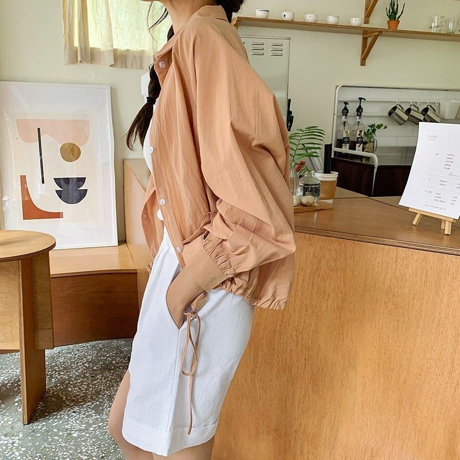 [ENVYLOOK]裾ストリングラグランバルーン袖シャツ★韓国ファッション/カジュアル/デイリールック/フェミニンルック/オルチャンファッション/プチプラ/ストリート 5