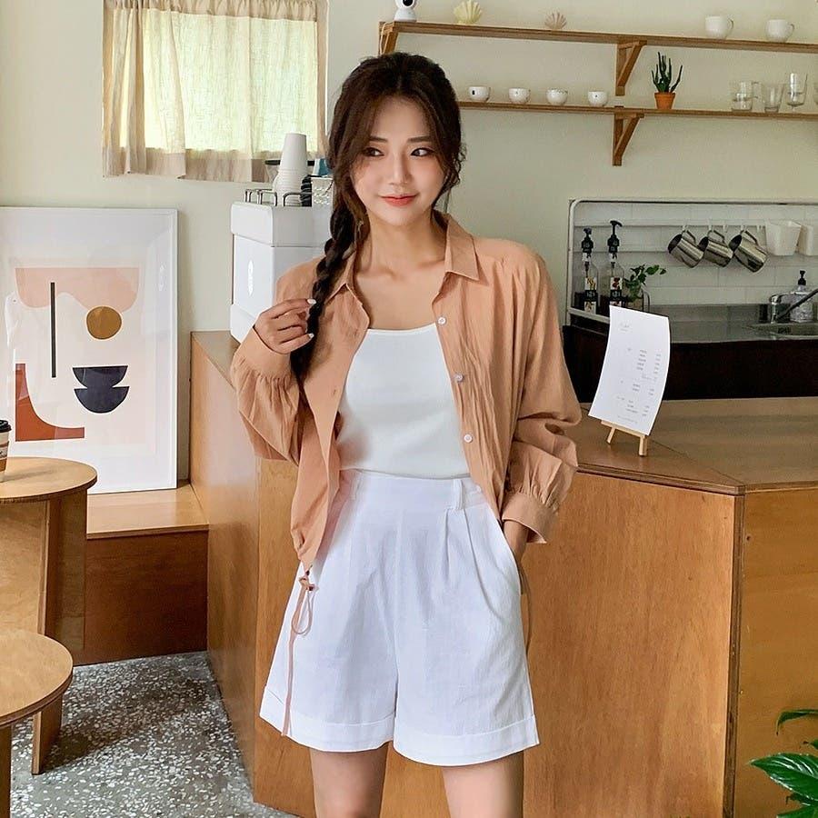 [ENVYLOOK]裾ストリングラグランバルーン袖シャツ★韓国ファッション/カジュアル/デイリールック/フェミニンルック/オルチャンファッション/プチプラ/ストリート 7