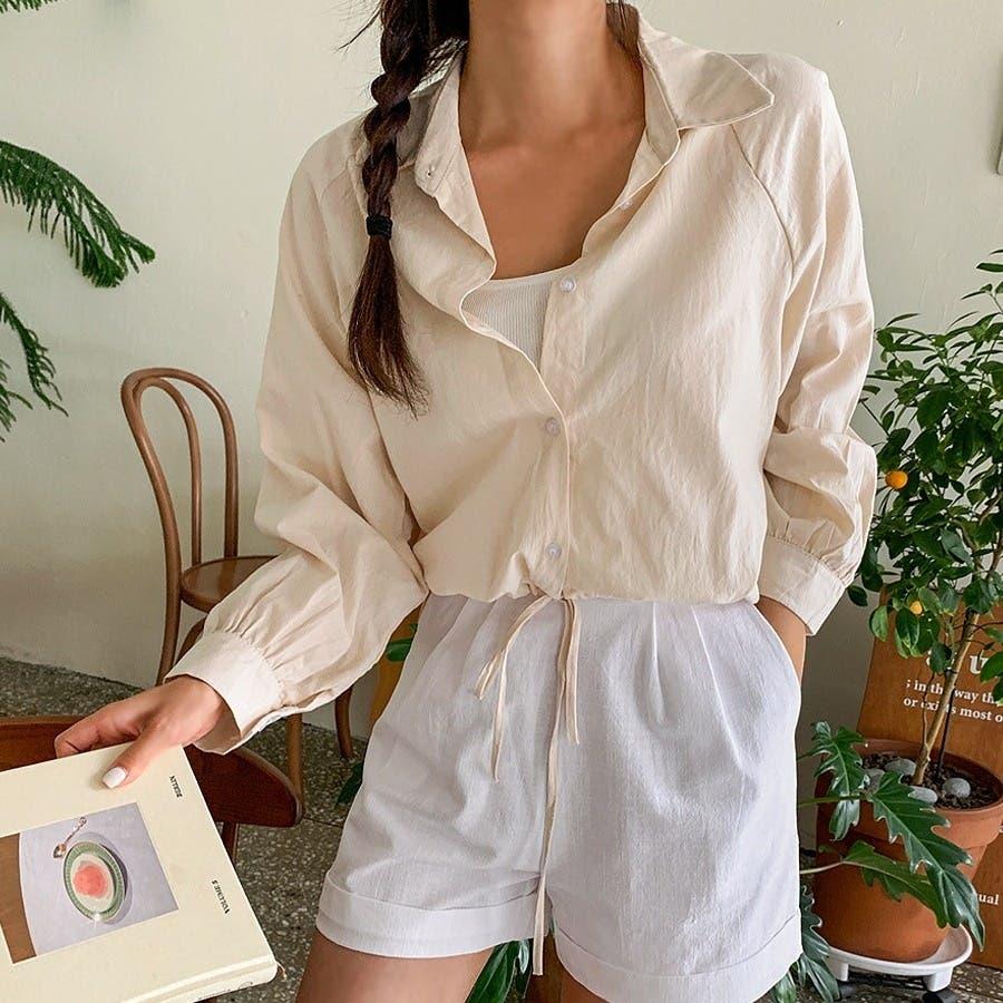 [ENVYLOOK]裾ストリングラグランバルーン袖シャツ★韓国ファッション/カジュアル/デイリールック/フェミニンルック/オルチャンファッション/プチプラ/ストリート 44