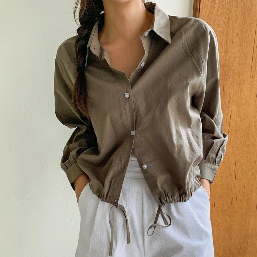 [ENVYLOOK]裾ストリングラグランバルーン袖シャツ★韓国ファッション/カジュアル/デイリールック/フェミニンルック/オルチャンファッション/プチプラ/ストリート 53