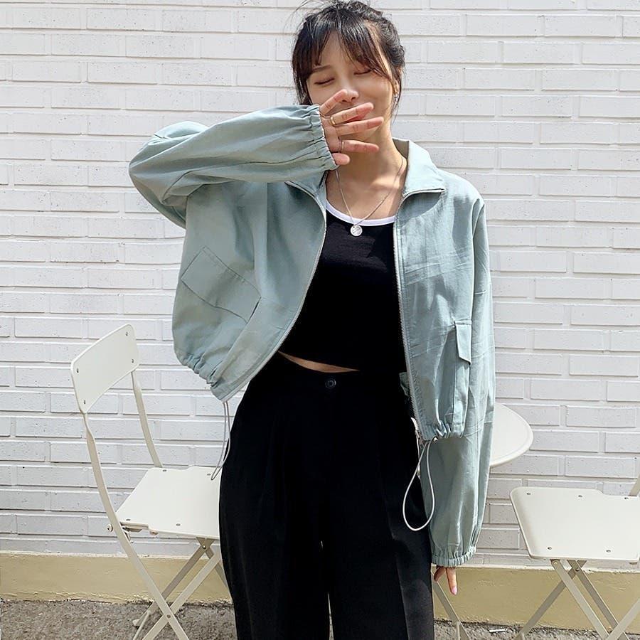 [ENVYLOOK]リネン混ストリング裾ショートジャケット★韓国ファッション/カジュアル/デイリールック/フェミニンルック/オルチャンファッション/プチプラ/ストリート 3