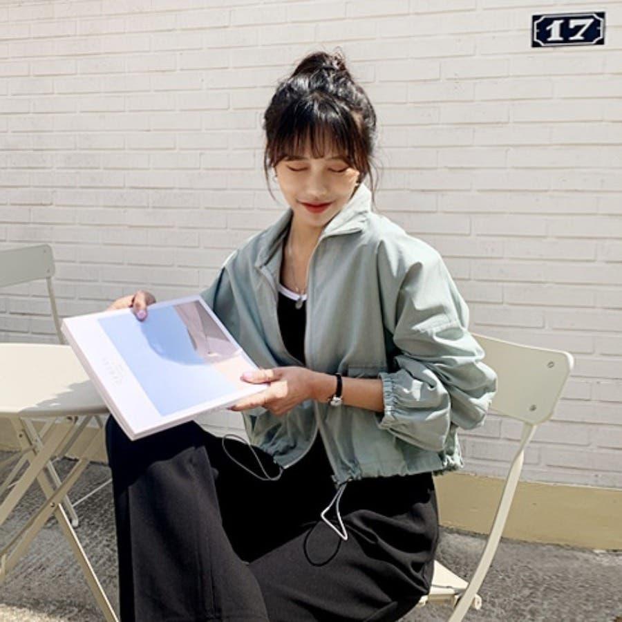 [ENVYLOOK]リネン混ストリング裾ショートジャケット★韓国ファッション/カジュアル/デイリールック/フェミニンルック/オルチャンファッション/プチプラ/ストリート 4