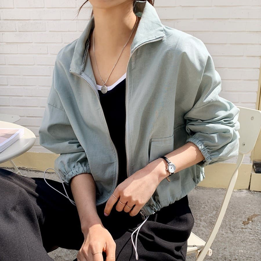 [ENVYLOOK]リネン混ストリング裾ショートジャケット★韓国ファッション/カジュアル/デイリールック/フェミニンルック/オルチャンファッション/プチプラ/ストリート 5