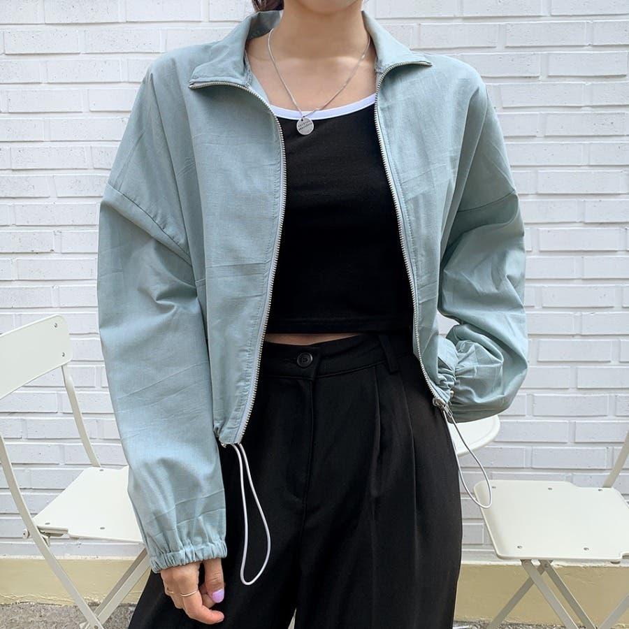 [ENVYLOOK]リネン混ストリング裾ショートジャケット★韓国ファッション/カジュアル/デイリールック/フェミニンルック/オルチャンファッション/プチプラ/ストリート 6