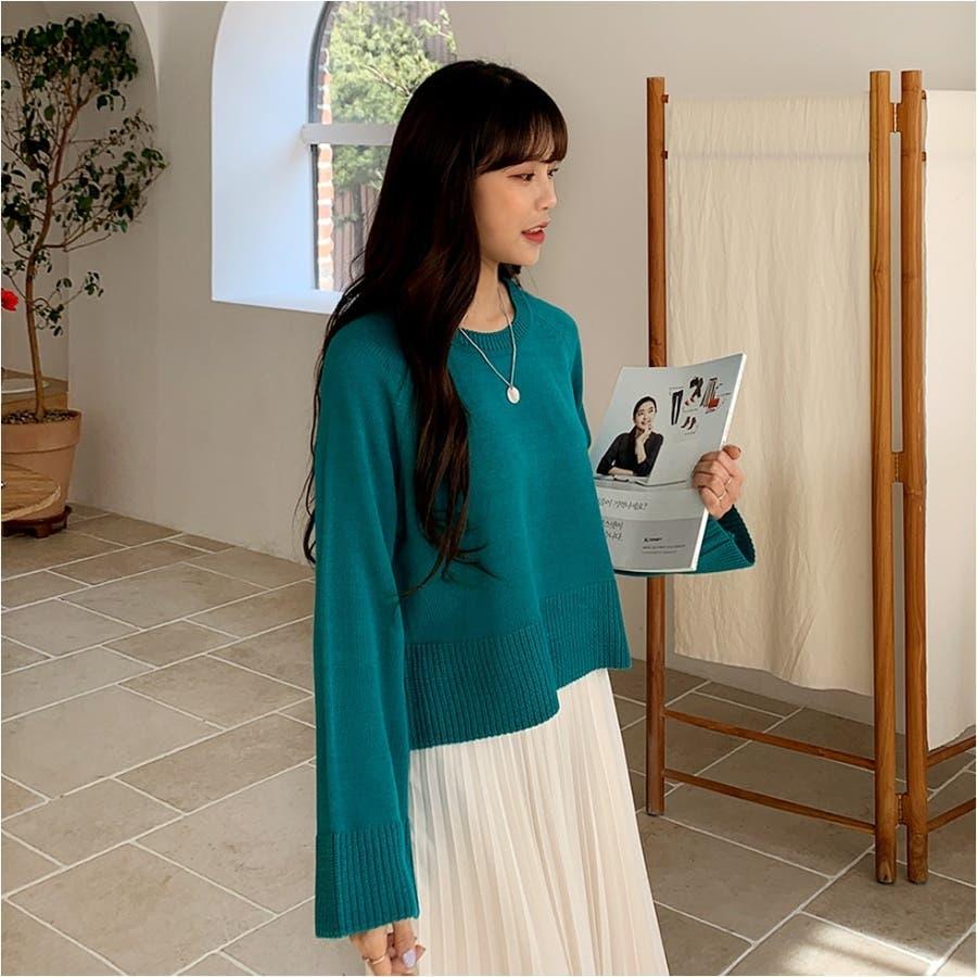 ワイドスリーブラグランラウンドニット★韓国ファッション/カジュアル/デイリールック/フェミニンルック/オルチャンファッション 5
