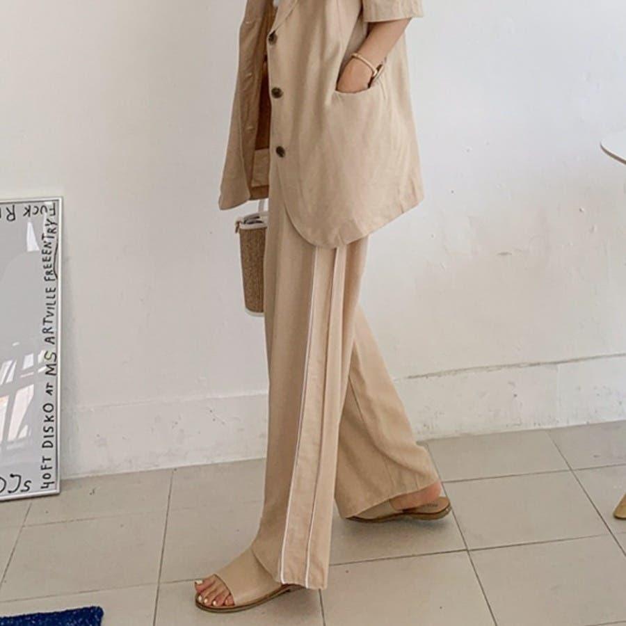 [ENVYLOOK]パイピングサイドラインルーズワイドパンツ★韓国ファッション/カジュアル/デイリールック/フェミニンルック/オルチャンファッション/プチプラ/ストリート 3