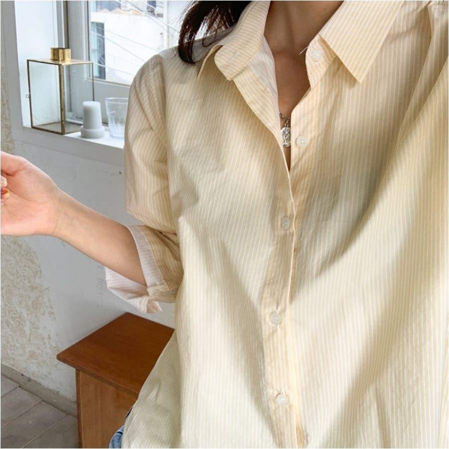 パステルカラーストライプシャツ★韓国ファッション/カジュアル/デイリールック/フェミニンルック/オルチャンファッション 4