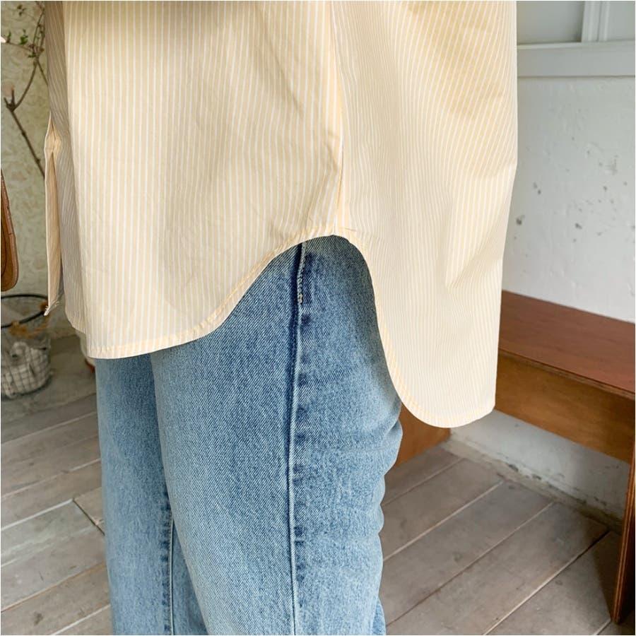 パステルカラーストライプシャツ★韓国ファッション/カジュアル/デイリールック/フェミニンルック/オルチャンファッション 5