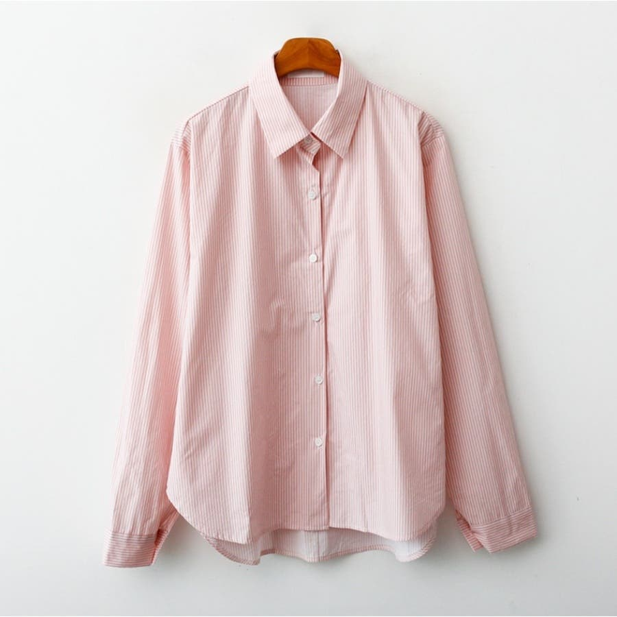 パステルカラーストライプシャツ★韓国ファッション/カジュアル/デイリールック/フェミニンルック/オルチャンファッション 87