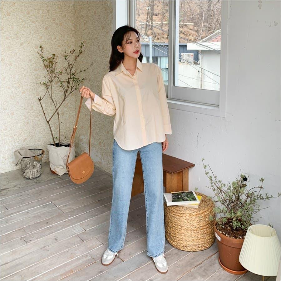 パステルカラーストライプシャツ★韓国ファッション/カジュアル/デイリールック/フェミニンルック/オルチャンファッション 83
