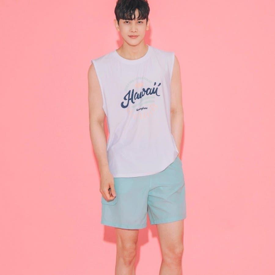 [ENVYLOOK][HB]レタリングノースリーブラッシュガード★韓国ファッション/カジュアル/デイリールック/フェミニンルック/オルチャンファッション/プチプラ/ストリート 7