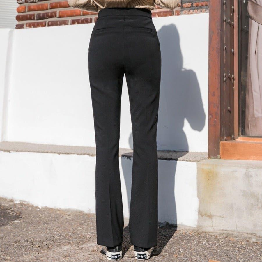 シンプルロングスラックスパンツ 韓国ファッション カジュアル 4