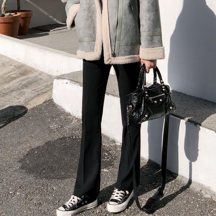 シンプルロングスラックスパンツ 韓国ファッション カジュアル 6