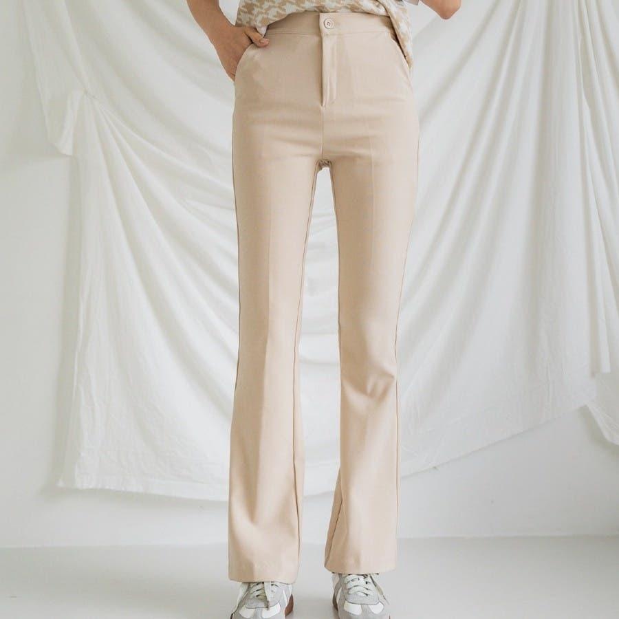 シンプルロングスラックスパンツ 韓国ファッション カジュアル 41