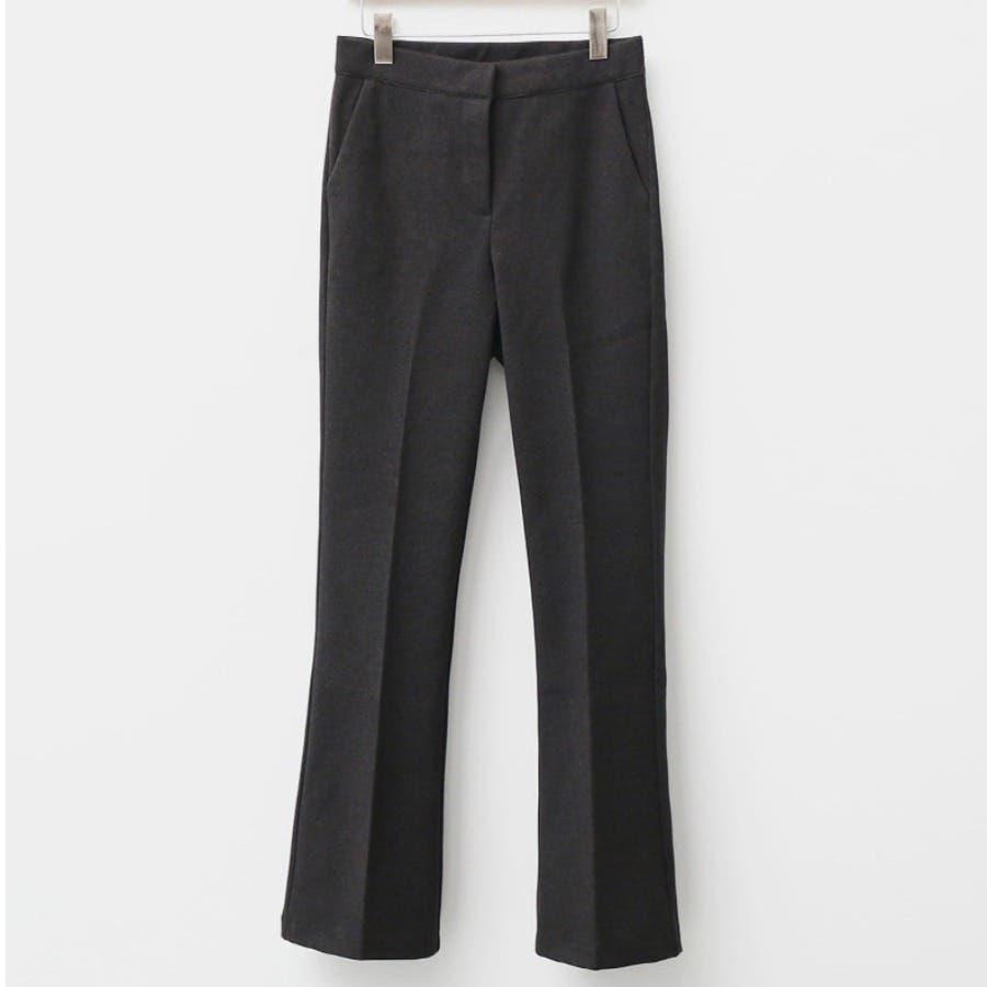 シンプルロングスラックスパンツ 韓国ファッション カジュアル 26