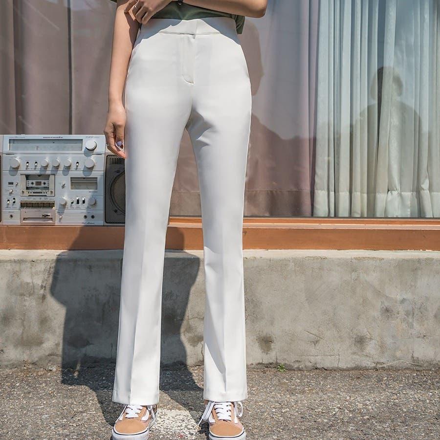 シンプルロングスラックスパンツ 韓国ファッション カジュアル 18